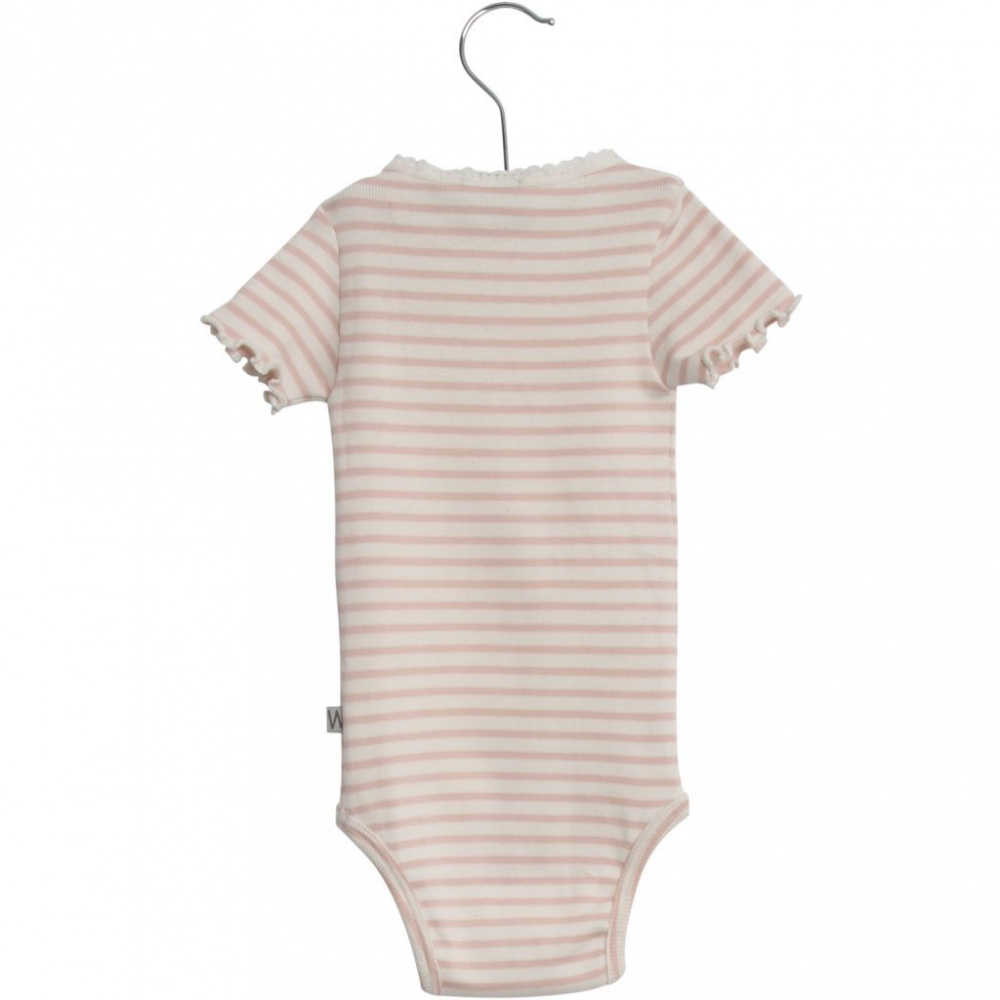 08a8e0b0 Body- Rib Lace SS- Powder- Wheat - Kids Copenhagen